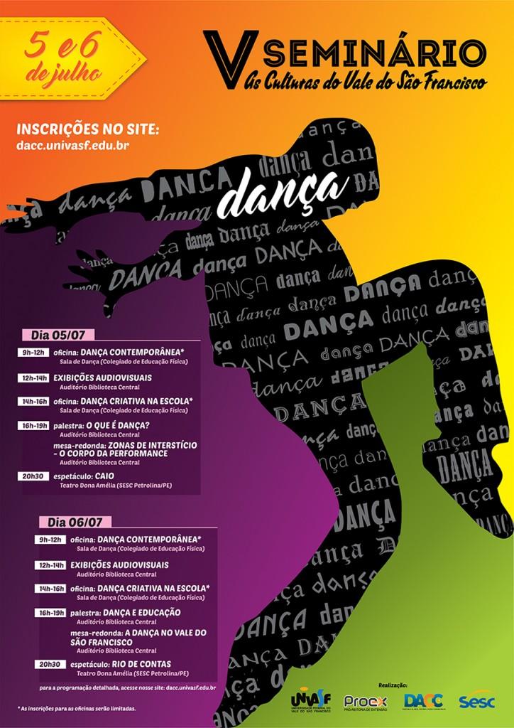 V Seminário - Dança - Cartaz A3